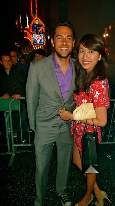Zachary Levi and Jeane Napoles