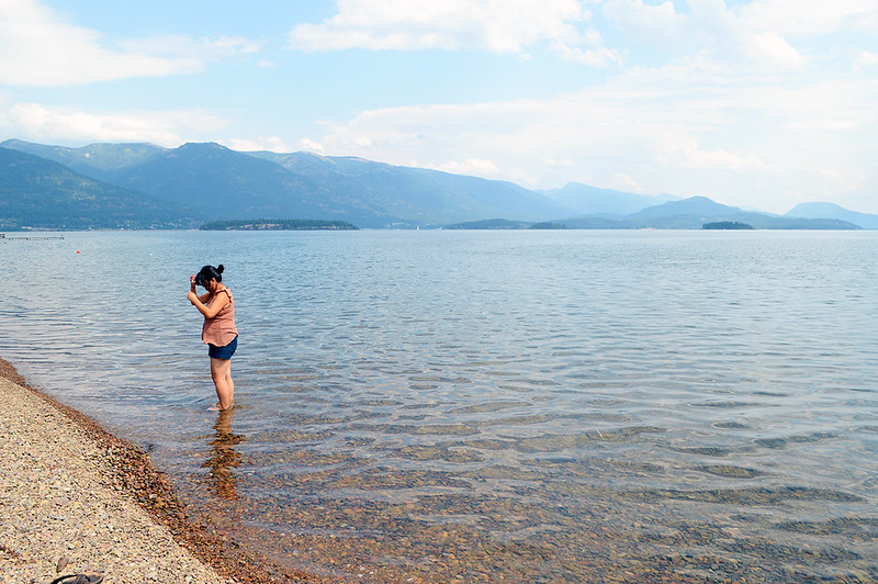 The cool waters of Lake Pend Oreille