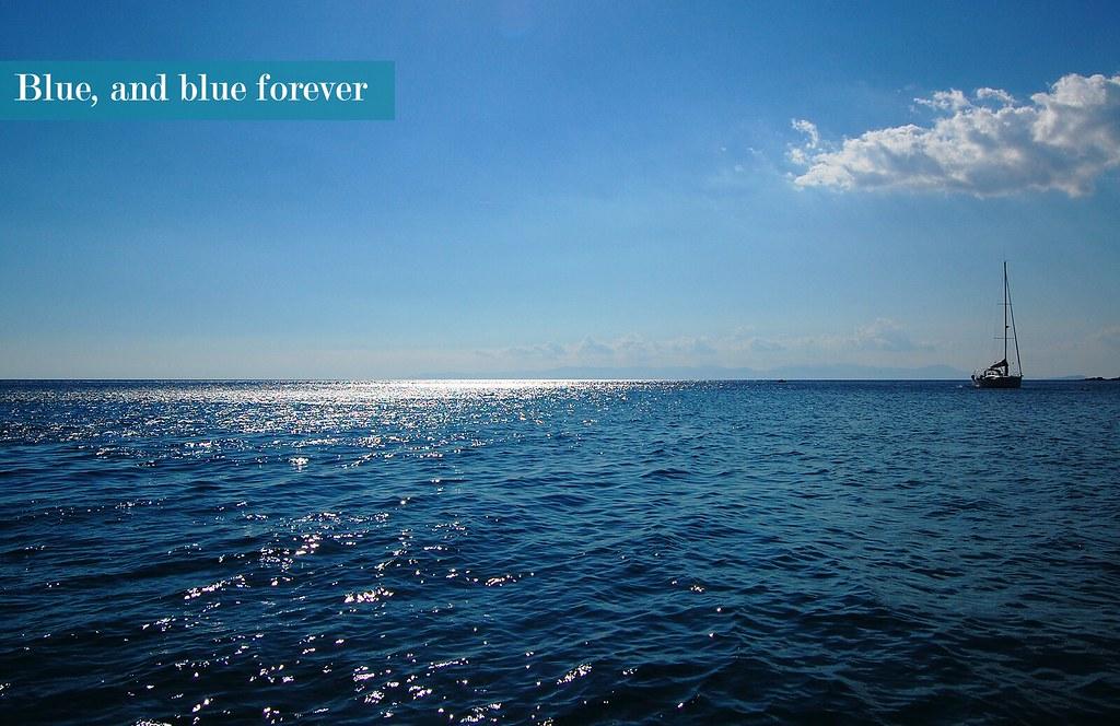 Boat, sea and sky