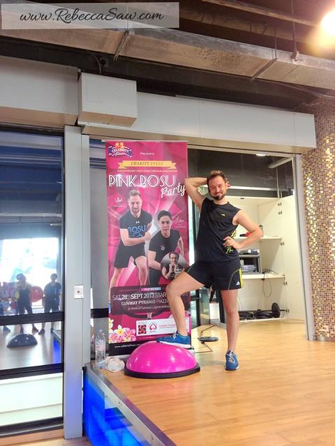 vidal - pink bosu, celebrity fitness 1