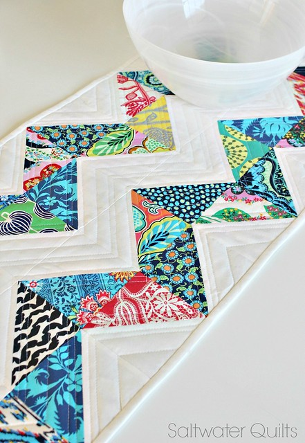 Lark Chevron table runner