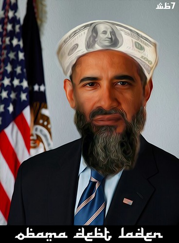 OBAMA DEBT LADEN by WilliamBanzai7/Colonel Flick