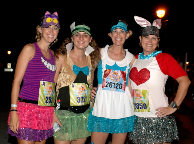 The Alice in Wonderland Crew at RunDisney Disneyland Half Marathon