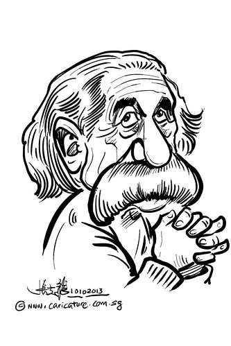 Albert Einstein digital caricature