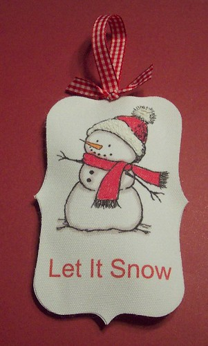 snowman canvas ornament