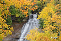 Laughing Whitefish Falls by Michigan Nut