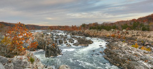 autumn sunset river island virginia dusk greatfalls rapids potomac fairfax hdr olmstead