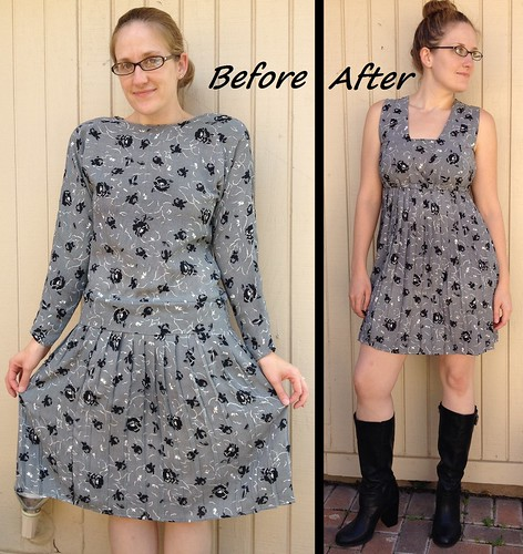 Pleated Babydoll Dress - Before & After
