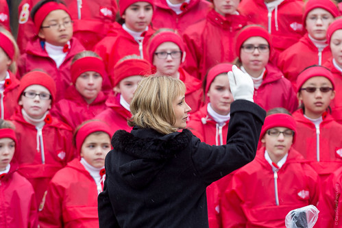Vancouver Children's choir singing for Hong Kong Oasis Airlines