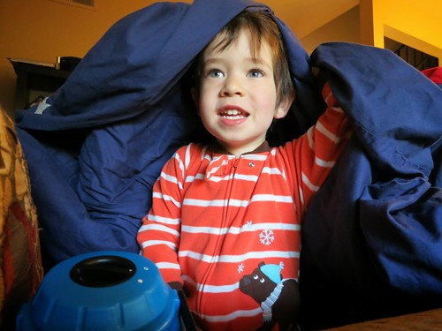 Grayson inside his blanket fort | by Oleg.