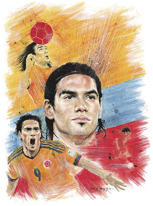 Radamel Falcao CROMOS magazine - Ricardo Drumond