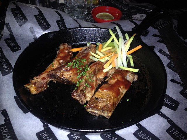 Pork ribs with Kansas City barbecue sauce