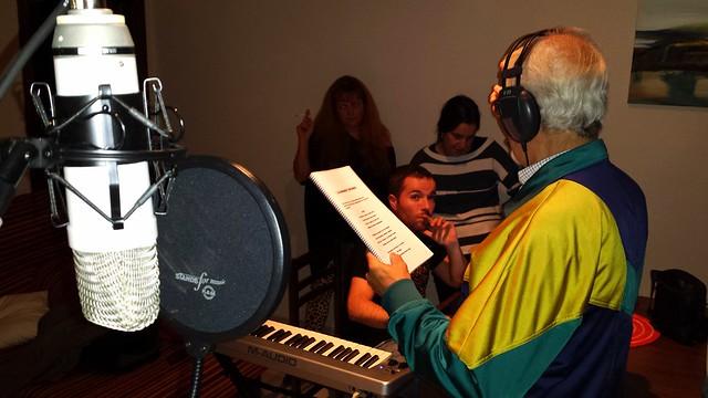 Grabando las canciones de El Sapo Verul