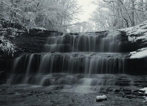 winter water waterfalls hillsboroohio
