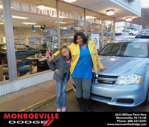 Happy Anniversary to Dionne Lynn Epps on your 2013 #Dodge #Avenger from Chad Carpenter  and everyone at Monroeville Dodge! #Anniversary by Monroeville Dodge