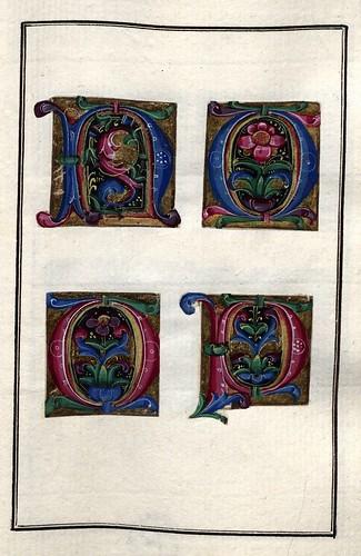 003-Álbum de las iníciales medievales - fol 13r- Biblioteca Nacional de Polonia
