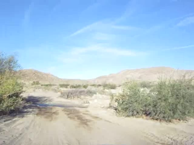 021 Video of driving through the stream at Second Crossing in Coyote Canyon
