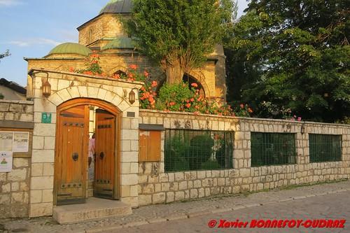 sunset geotagged sarajevo mosque bih bosnieherzégovine bosnieherzegovine hrid federationofbosniaandherzegovina geo:lat=4385933677 geo:lon=1843097614 havadzeduraka'smosque