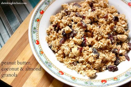peanut butter coconut almond granola