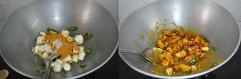How to make Sweet Potato Kuzhambu