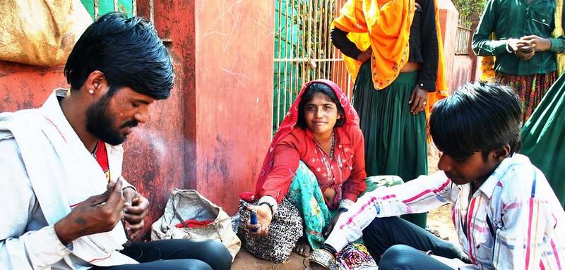 92 Temporeros de Rajastan. Estampas de Goa (40)