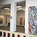 "Sampson2000 posted a photo:	My paintings at CSMA ""In Pieces""."