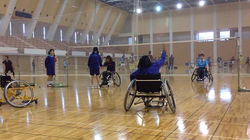 20140322車椅子バドミントン体験会