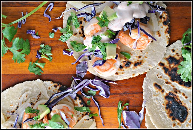 Honey Lime Tequila Shrimp Tacos 3