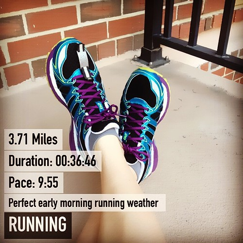 Even when they're slow early morning runs are the perfect way to start the day #running #fitsnap
