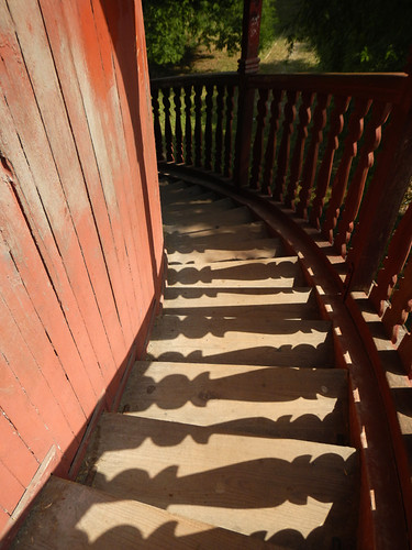 Shadows on the Stairs of the Tower at Mandalay Palace