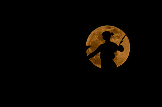 Full Moon Silhouette