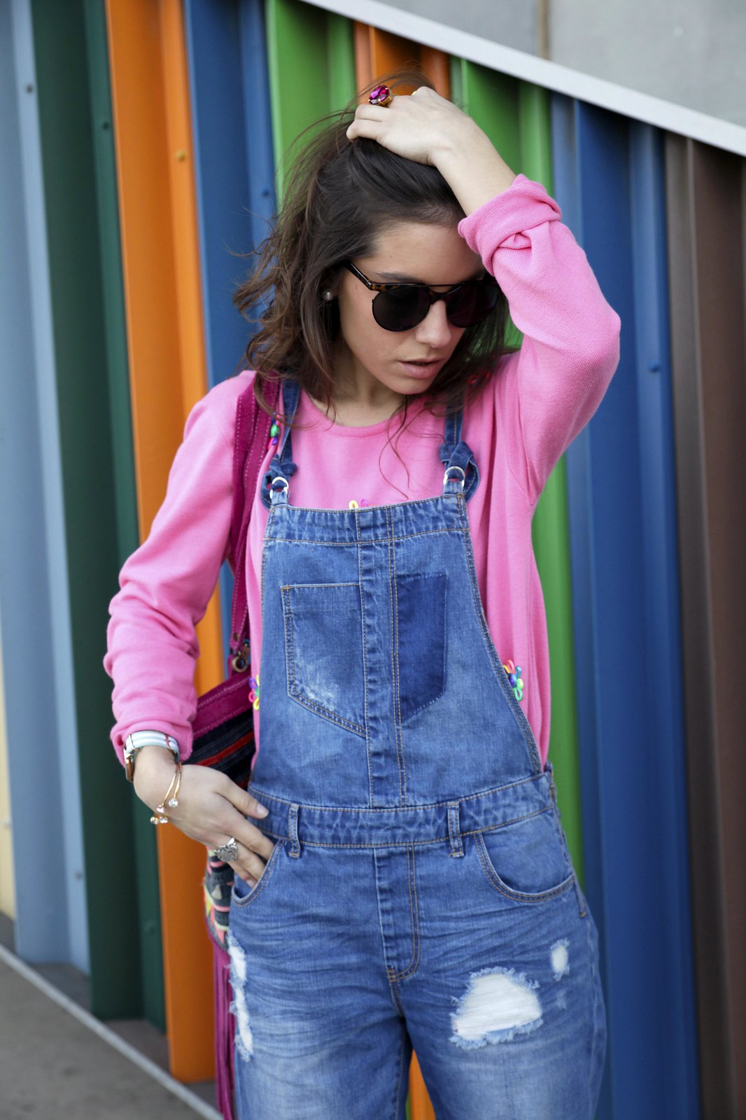 OVERALL OUTFIT FOR SPRING pink look