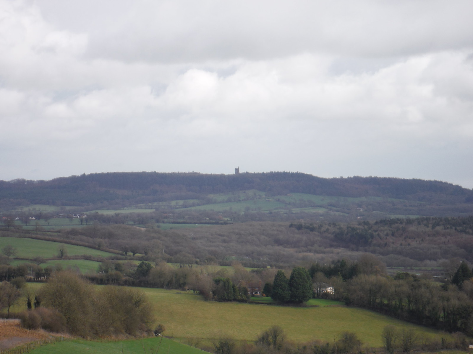 Alfred's Tower on distant ridge SWC Walk 284 Bruton Circular (via Hauser & Wirth Somerset) or from Castle Cary