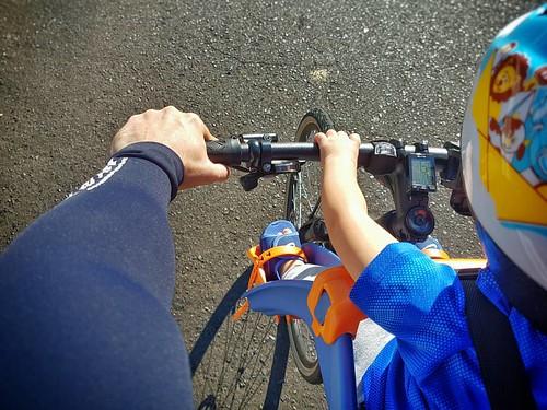Pai & filho. #pai #filho #dad #son #bike #bicicleta