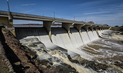 oshaughnessy dam reservoir dublin powell ohio scioto river water landscape bridge sky wide angle nikon d5500 sigma 1020mm