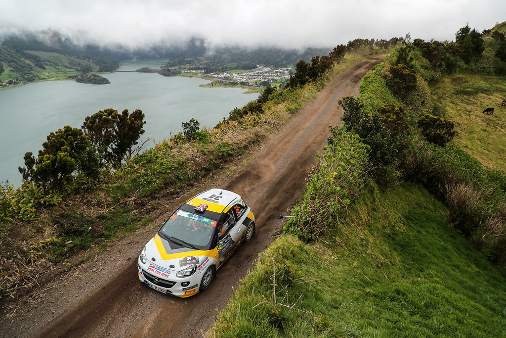 34 INGRAM Chris EDMONDSON Elliot Opel Adam R2 Action during the 2017 European Rally Championship ERC Azores rally,  from March 30  to April 1, at Ponta Delgada Portugal - Photo Jorge Cunha / DPPI
