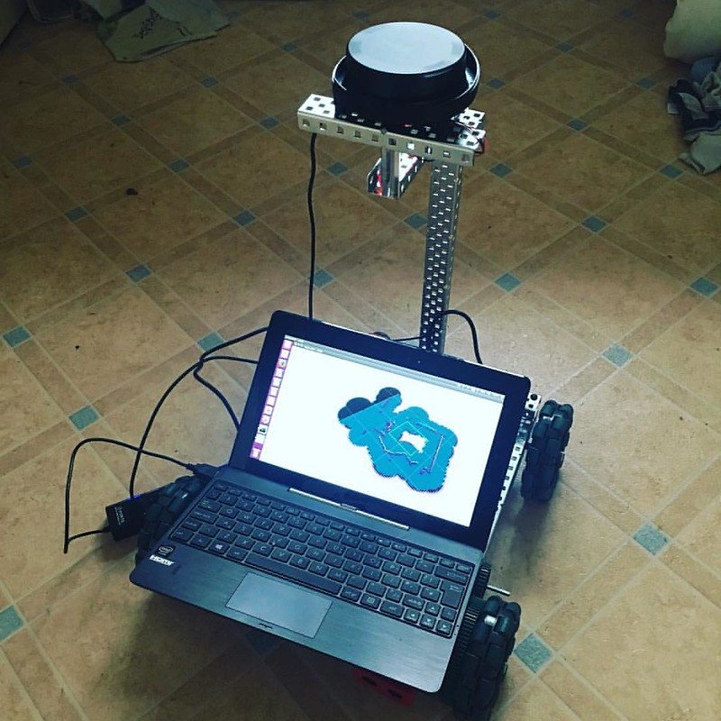 #ros powered @vexrobotics #vexedr #robot running #slam :) #lidar