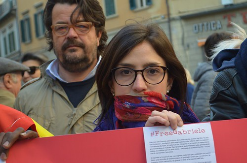 Flash Mob per Gabriele Del Grande