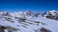 Col Basei 3176m i Col di Nivoletta 3130m jeszcza raz z rana.