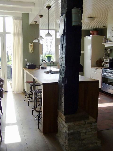 Keuken landelijke woonboerderij