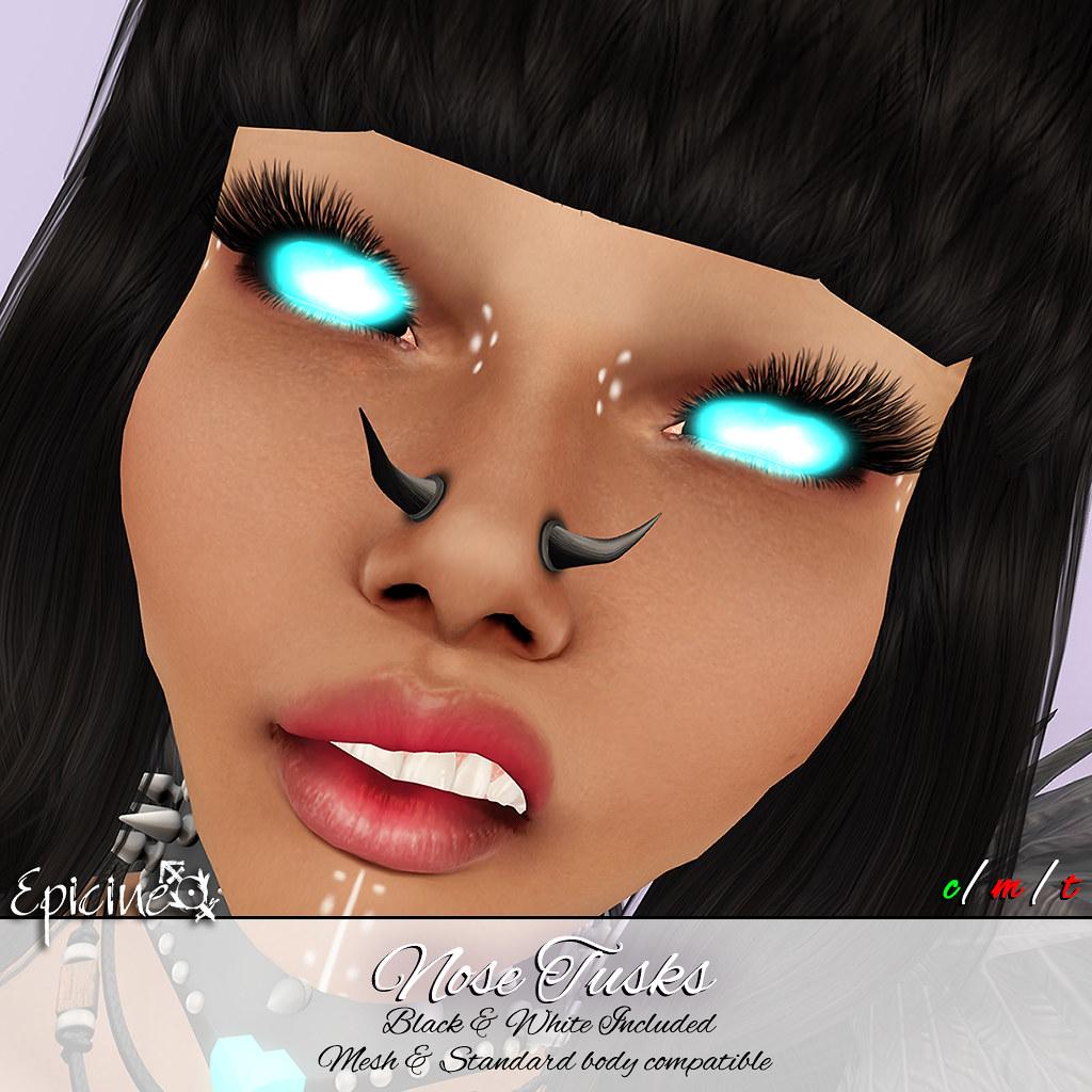 Epicine - Nose Tusks - SecondLifeHub.com