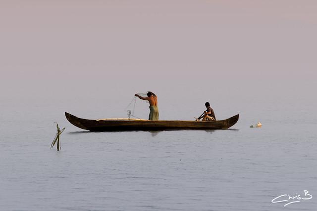 Fishermen on Lake Vembanad