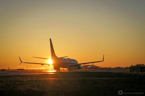 westjetairlines boeing7378ct morning sunrise vancouverinternationalairport yvrairport seaisland richmond canada britishcolumbia airplane runway jet airliner plane aircraft travel spring cgwsr
