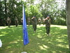 EUTM personnel render honors to the flag by European External Action Service - EEAS