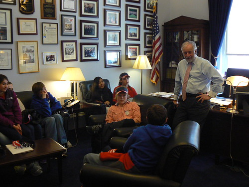 meeting with students from Mattituck-Cutchogue middle school