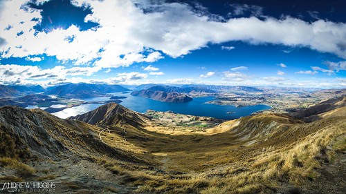 Summit of Mt Roy looking over Lake Wanaka