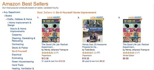 The Good Life Lab: No 1 & 3 in DIY on Amazon!