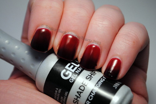 Orly Gel FX over Sally Hansen Red My Lips