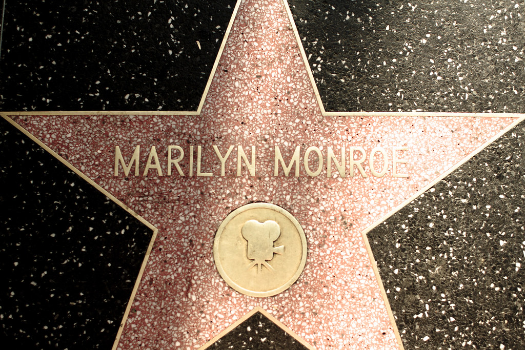 Marilyn Monroe star on the Hollywood Walk of Fame