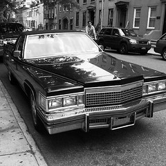 automobile, automotive exterior, cadillac, vehicle, performance car, cadillac brougham, full-size car, monochrome photography, antique car, sedan, vintage car, land vehicle, monochrome, luxury vehicle, black-and-white, motor vehicle,